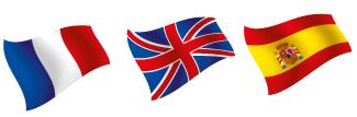 drapeau Francais-Anglais-Espagnole
